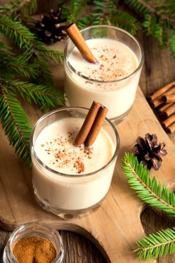 Eggnog with cinnamon for Cristmas and winter holidays